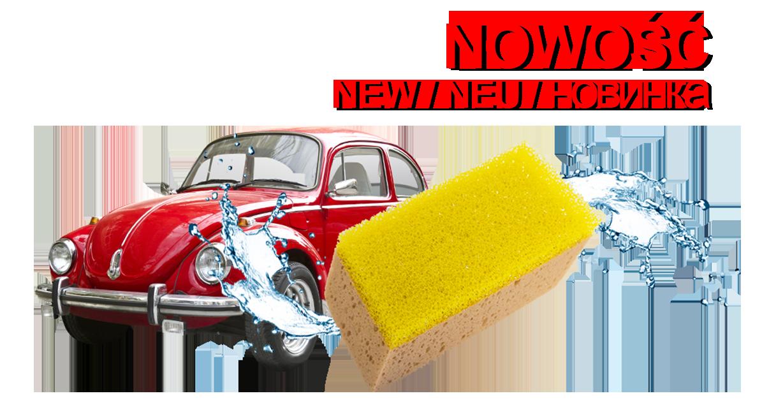 (Polski) Gąbka samochodowa z warstwą szorującą